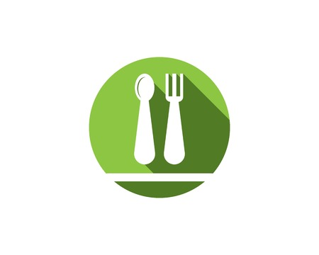 Restaurant icon logo vector template
