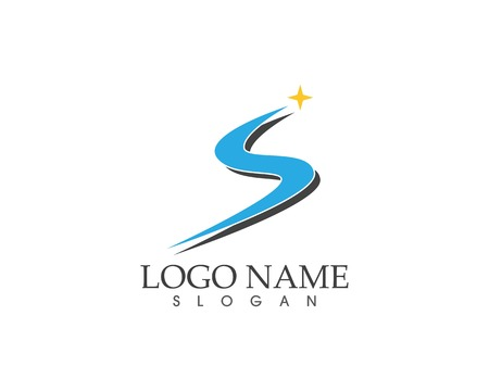S letter icon business logo template