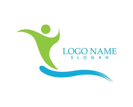 Health people care logo vector template