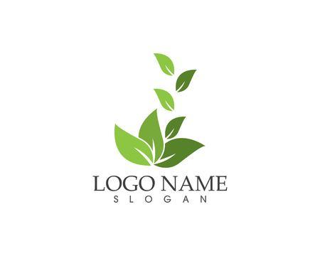 Nature leaf logo design template