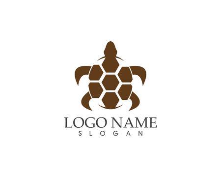 Ilustración de vector de logo de icono de tortuga marina