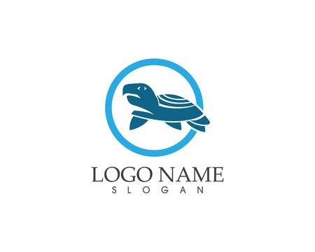 Sea turtle icon logo vector illustration Illustration