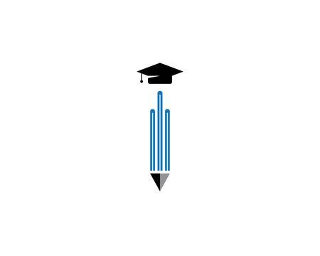 Education logo template vector icon