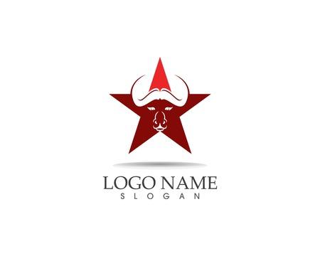 Bull head icon logo design vector template