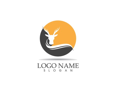 Deer head icon logo design vector illustration