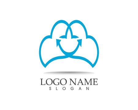 Smile cloud icon logo vector