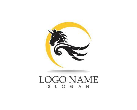 Pegasus vector logo template vector illustration Logo