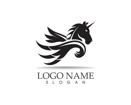 Pegasus vector logo template vector illustration Çizim