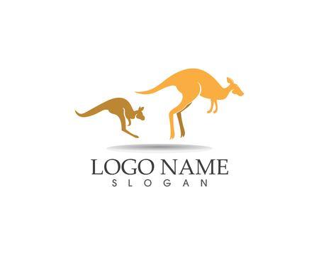Ilustración de vector de diseño de logotipo de icono de canguro Logos