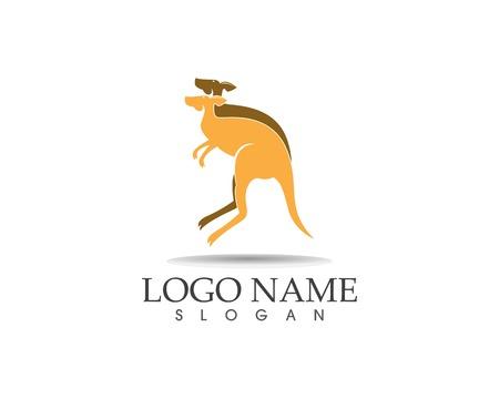 Kangaroo icon logo design vector illustration Ilustração
