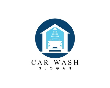 Car wash logo vector template