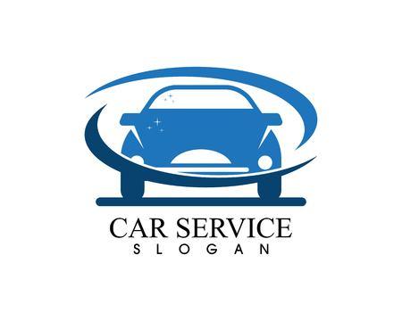 Auto car service logo vector template