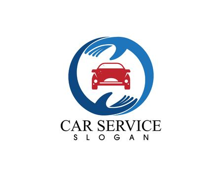 Auto car service logo vector template