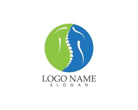 Diagnostic de la colonne vertébrale symbole logo modèle vector illustration Logo