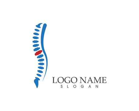 Spine diagnostics symbol logo template vector illustration