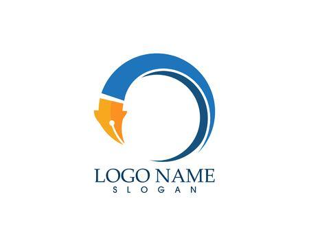 Pen education logo vector template