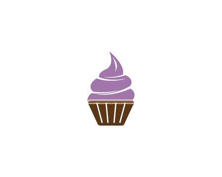 Cup cake logo vector template Logo