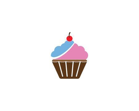 Cup cake logo vector template