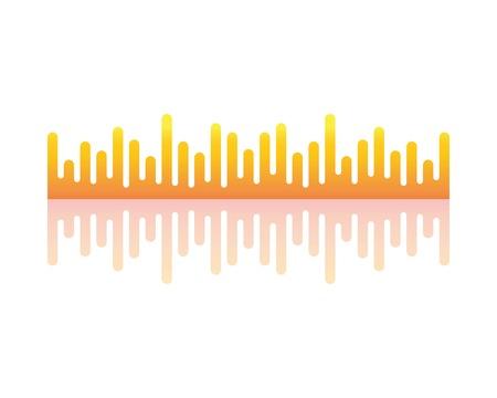 Wave shound icon logo vector template