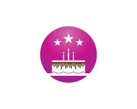Torta di compleanno logo template vettoriale