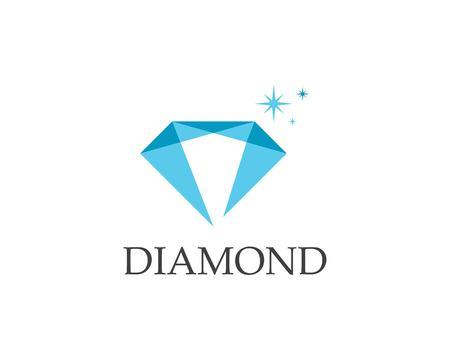Plantilla de vector de logo de diamante Logos