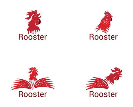 Rooster logo vector template