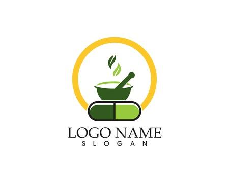 Herbal capsule logo vector template