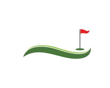 Golf icon logo vector template Illustration