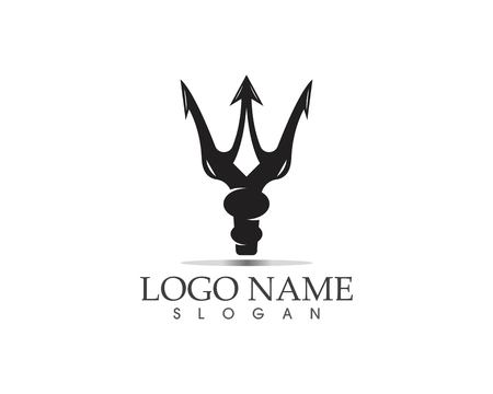 Diseño del ejemplo del icono del vector de la plantilla del logotipo de Trident