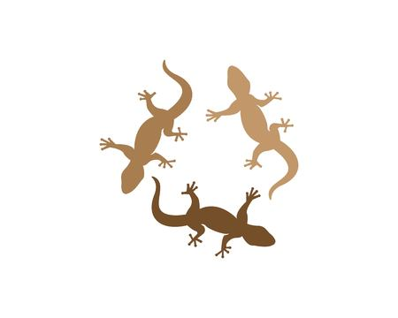 Lizard logo design vector illustration