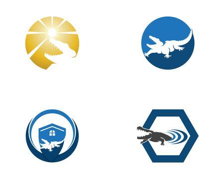 Crocodile logo design vector illustration
