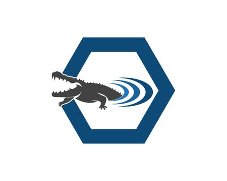 Crocodile logo design vector illustration