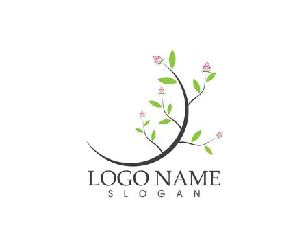 Flower beauty spa logo design vector illustration Vettoriali