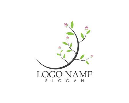 Flower beauty spa logo design vector illustration Illustration