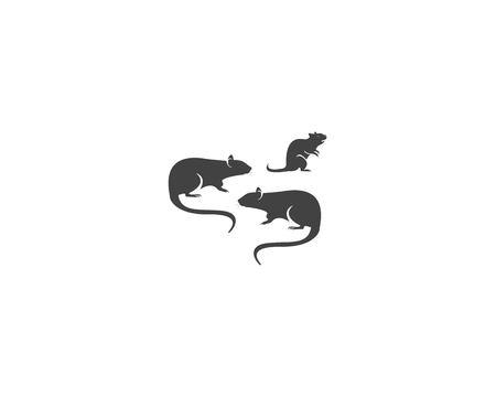Rat silhouette logo design graphic Logo