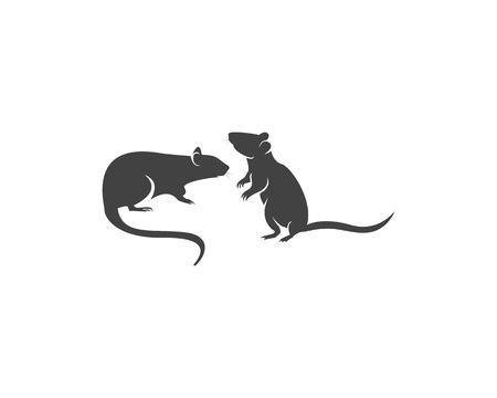 Rat silhouette logo design graphic Stockfoto - 112924072