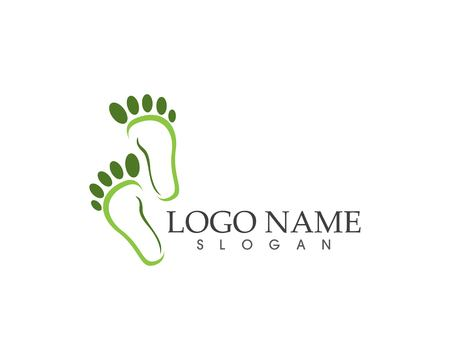 Foot health logo vector template