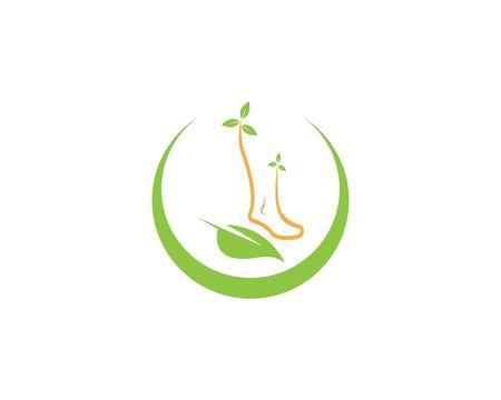 Foot health logo vector template
