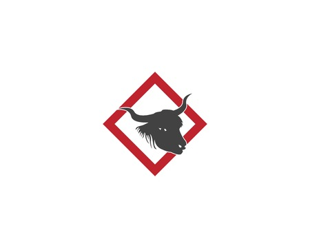 Bull head icon logo vector illustration 向量圖像