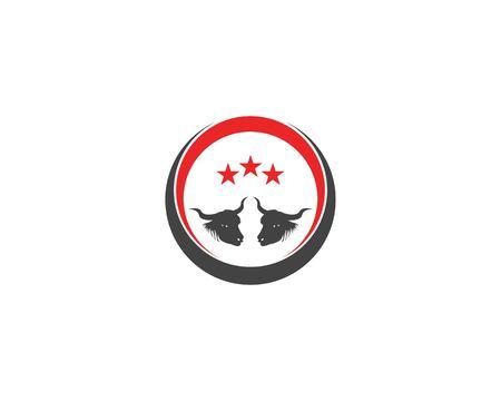 Bull head icon logo vector illustration Illustration
