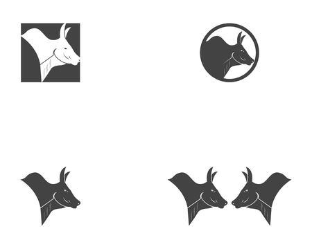 Bull head icon logo vector