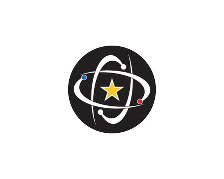Star tech icon logo vector Logo