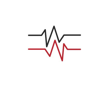 Pulse line logo vector