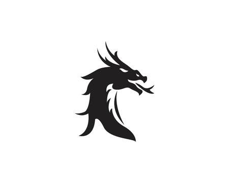 Head dragon logo template vector illustration