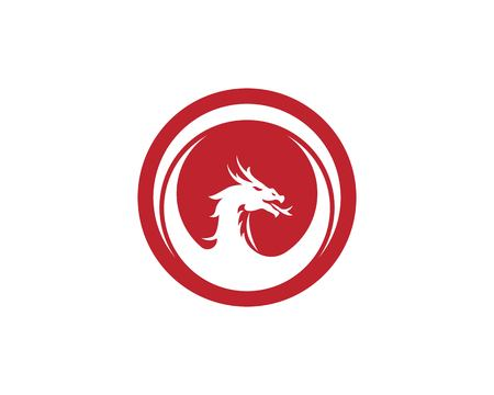 Head dragon logo template vector illustration