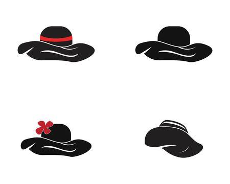 Hat icon logo vector Illustration
