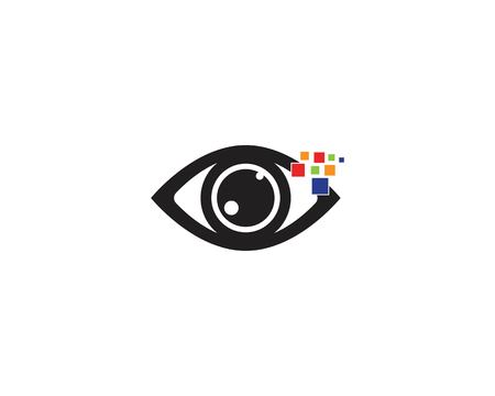 Eye care logo template vector Illustration