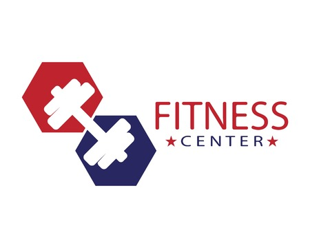 Fitness center logo template