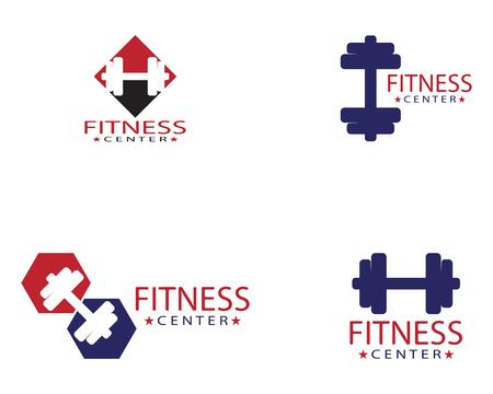 Gym icon logo template vector