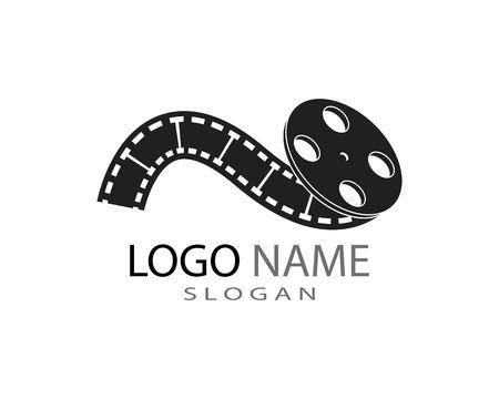 Modello di logo della striscia di pellicola Logo